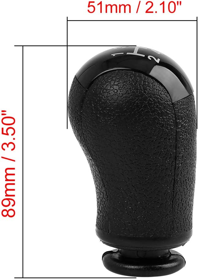 X AUTOHAUX 5-Speed Manual Gear Shift Knob Car Vehicle Stick Shifter Knobs Cover