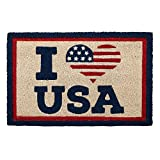 NT Patriotic Natural Coir Fiber Doormat (I (Heart) USA)