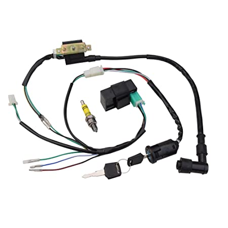 amazon goofit ignition rebuilt kit wiring harness for 50cc 70cc Elec Wiring -Diagram amazon goofit ignition rebuilt kit wiring harness for 50cc 70cc 90cc 110cc 125cc stator cdi coil atv quad bike buggy go kart automotive