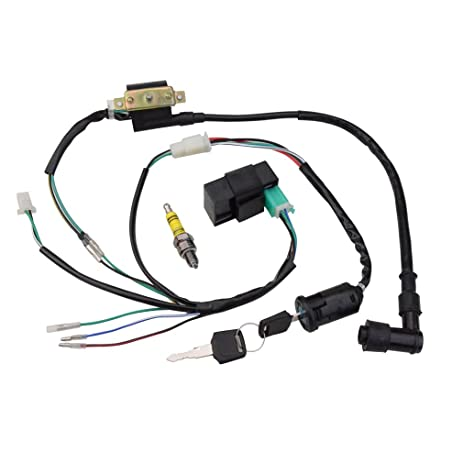 61T3KEEfGTL._SY463_ amazon com goofit ignition rebuilt kit wiring harness for 50cc