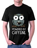 The Souled Store Caffeine Addict Food Printed BLACK Cotton T-shirt for Men Women and Girls