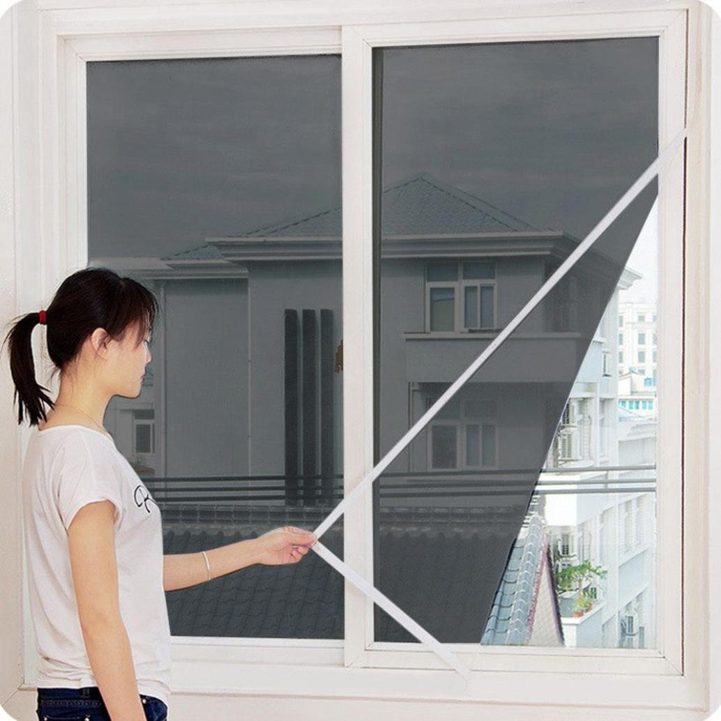 Botrong Indoor Insect Fly Screen Curtain Mesh Bug Mosquito Netting Door Window (Black)