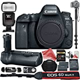 Canon EOS 6D Mark II Digital SLR Camera Body (Wi-Fi Enabled) BUNDLE:Camera Body + Battery Grip + Monopod + Card Reader + Remote Control + DSLR Case + 64GB Memory Card + DigitalAndMore Accessory BUNDLE