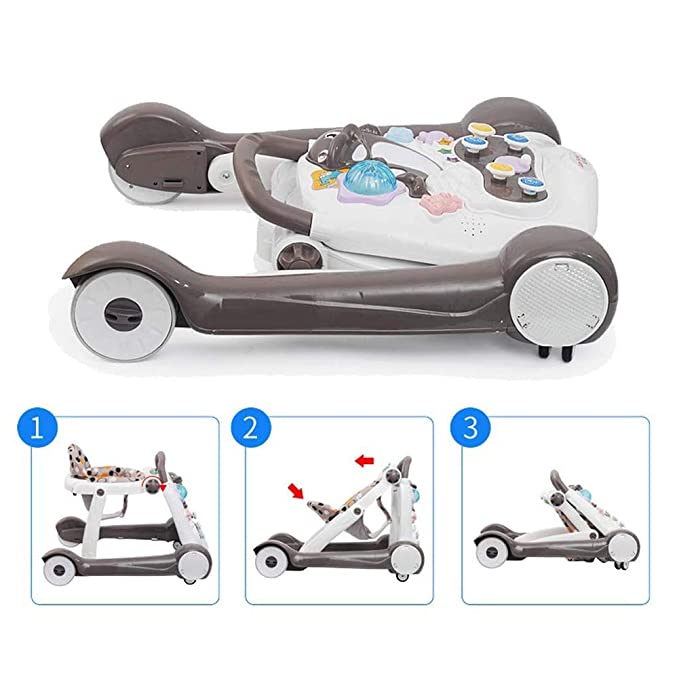 XBCOOK Altura Ajustable Andadores Bebé, 2 En 1 Bebé Andadores, con ...