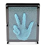 "E-FirstFeeling 3D Pin Art Sculpture Extra Large 10"" X 8"" Pin Impression Hand Mold Board Toy - Light Blue"