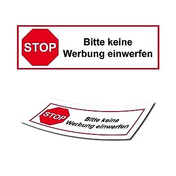 Briefkasten Aufkleber Stop Keine Werbung Sticker Post Verbot