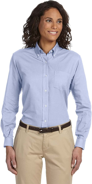 Van Heusen Women's Classic Wrinkle-Resistant Oxford Shirt, LIGHT BLUE, X-Large