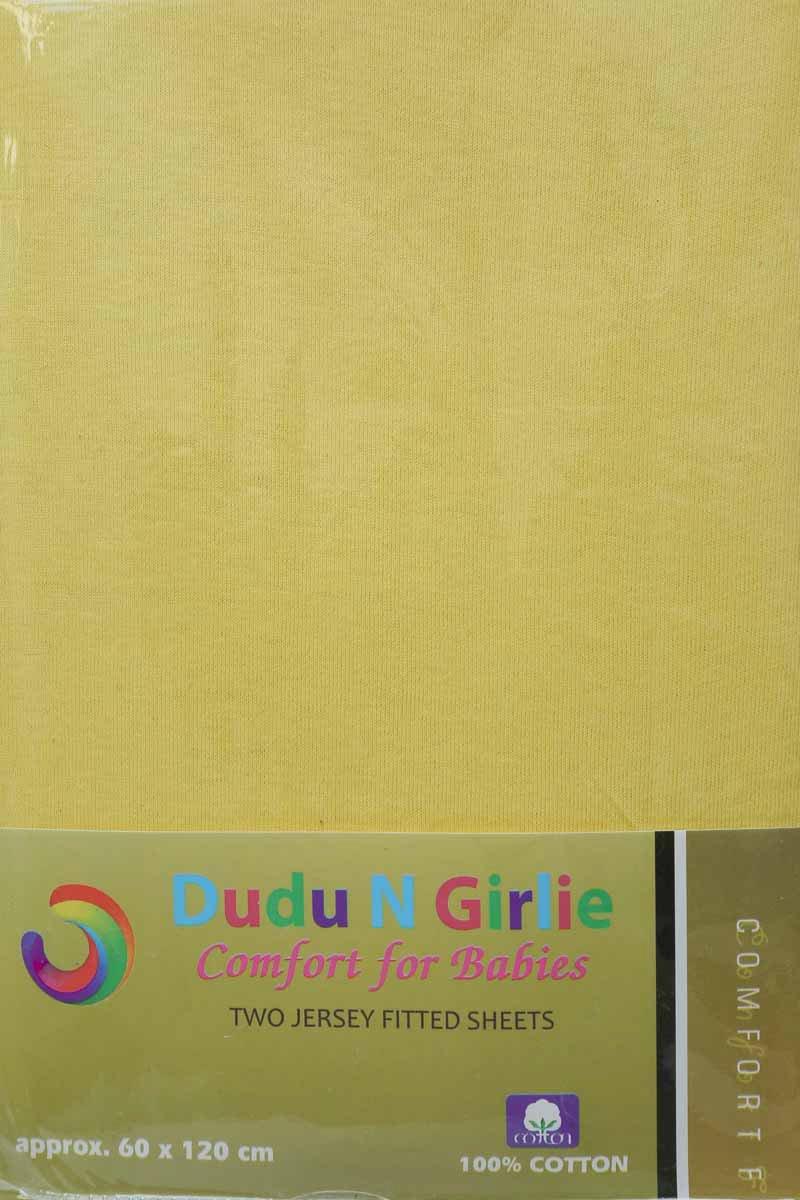 2-teilig Dudu N Girlie Spannbettlaken f/ür Kinderbett Rosa 60 x 120 cm 100/% Baumwolle