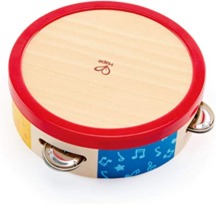 Baby Kids Wooden Musical Toys Drum Rattles Toy Tambourine Educational ToyRSDE