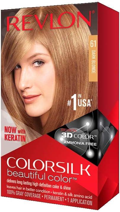 Revlon Colorsilk hermoso color pelo color – Rubio Oscuro 61 (Pack de 4)