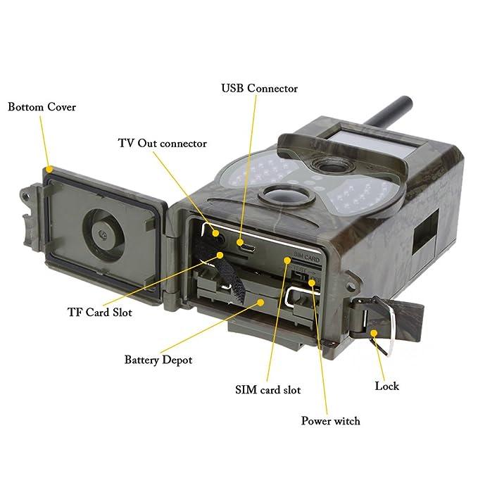 Lixada Cámara de Caza 2G/3G GSM WCDMA MMS/SMS/SMTP 16MP 0,5S Tiempo de Activación 940NM Cámara Infrarroja LED HD Digital: Amazon.es: Bricolaje y ...