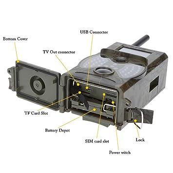 Lixada Cámara de Caza 2G/3G 16MP 0,5S Tiempo de Activación 940NM LED HD Digital Infrarrojo Trail Cámara: Amazon.es: Deportes y aire libre