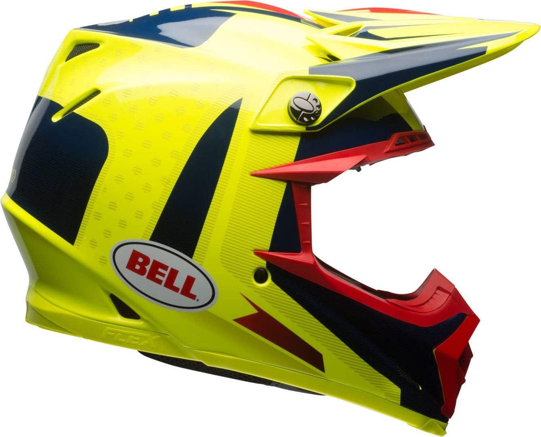 Gr/ö/ße M BELL Helmet Moto-9 Flex Vice Blue//Yellow