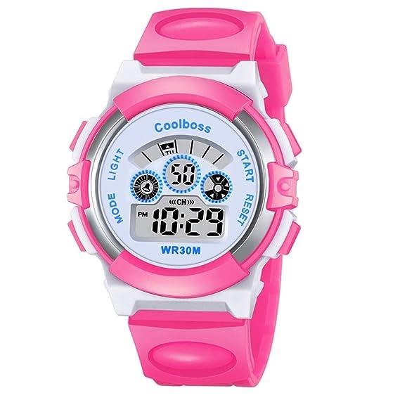 Reloj para niños Reloj de Pulsera de Goma de Silicona Reloj Infantil Digital Impermeable a Prueba