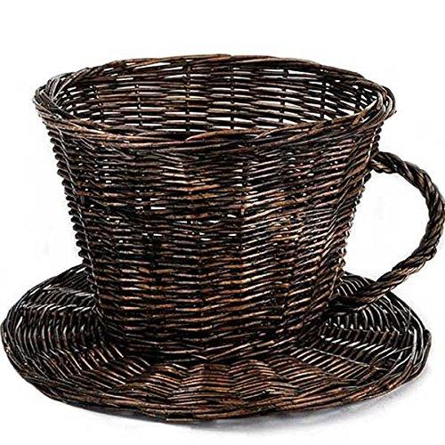 Wicker Coffee Cup Basket (Set of 10) 10 x 7 in suppliesforgiftbasket