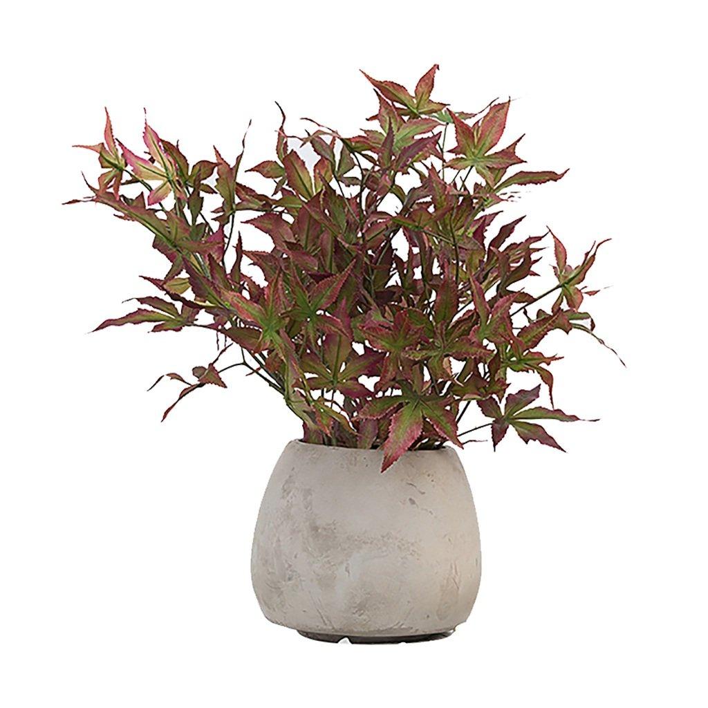 GWM 人工花、偽リアルタッチの花シルクプラスチック、メープルリーフ、ホームガーデンパーティーのウェディングデコレーション B07FR4NTRR