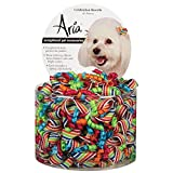 Aria Celebration Barettes for Dogs, 40-Piece Canisters