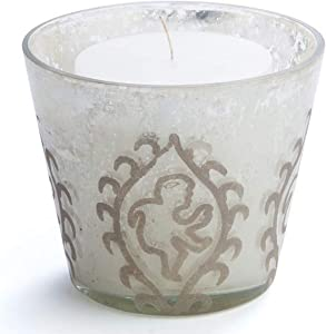 Napa Home & Garden Hayworth Paisley Etched Votive, 4.5 by 4.5 by 4.5-Inch