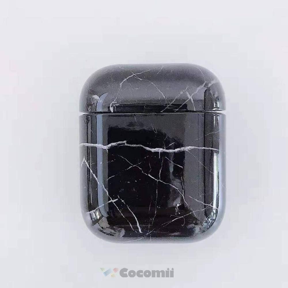 Cocomii Hard Marble Marmor AirPods H/ülle White Schlank D/ünn Gl/änzend Hartplastik Polycarbonat PC Gl/änzend Granit Mode Case Bumper Cover Schutzh/ülle for Apple AirPods