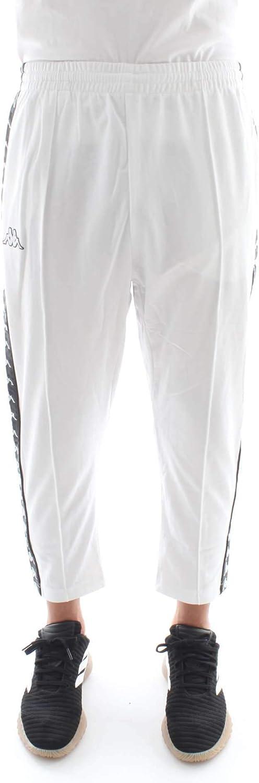 Kappa 3031WR0 Pantalones de chándal Hombre Blanco/Negro L: Amazon ...
