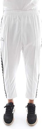 Kappa 3031WR0 Pantalones de chándal Hombre Blanco/Negro L ...