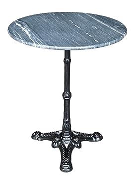 Table de jardin bistro table marbre 60 cm avec pied gußeisernem Gris ...