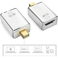 Adaptador Mini DisplayPort a HDMI 4 K, Mini DP (Puerto Thunderbolt Compatible) a HDMI AV HDTV Macho a Hembra Adaptador para Mac Book iMac, Plateado