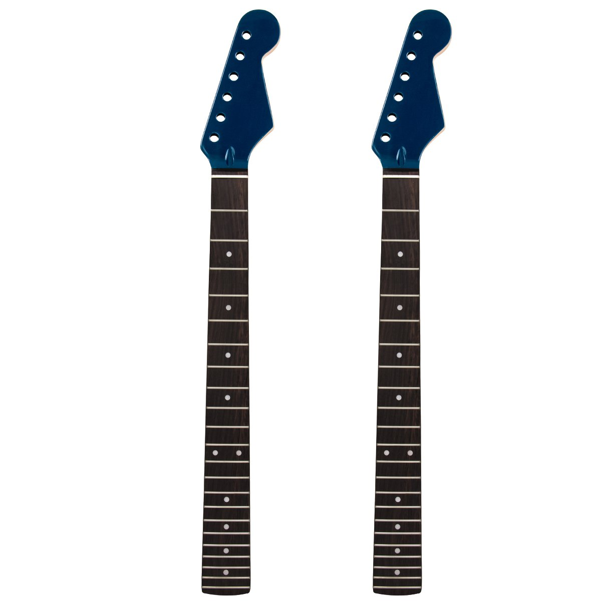 2pcs Gloss Blue Electric Guitar Neck 22 Frets Rosewood Fretboard Replacement