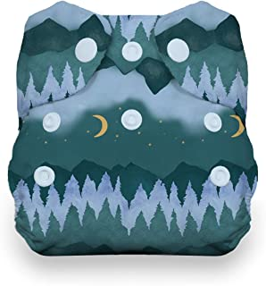 product image for Thirsties Natural Newborn All in One Cloth Diaper, Snap Closure, Mountain Twilight (5-14 lbs)