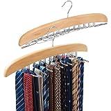 EZOWare Pack de 2 - Cintres Porte-Cravates en Crochet en Métal Plaqué avec Chrome, Organisateur de Ceintures, Porte-accéssoires pour cravates, ceintrues, foulards, écharpes