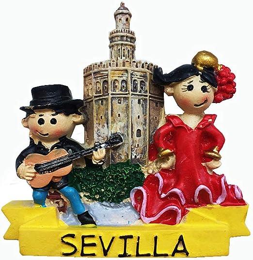 MUYU Magnet Sevilla España 3D imán para Nevera Recuerdo de turista Regalo hogar y Cocina decoración magnética calcomanía Sevilla imán colección: Amazon.es: Hogar