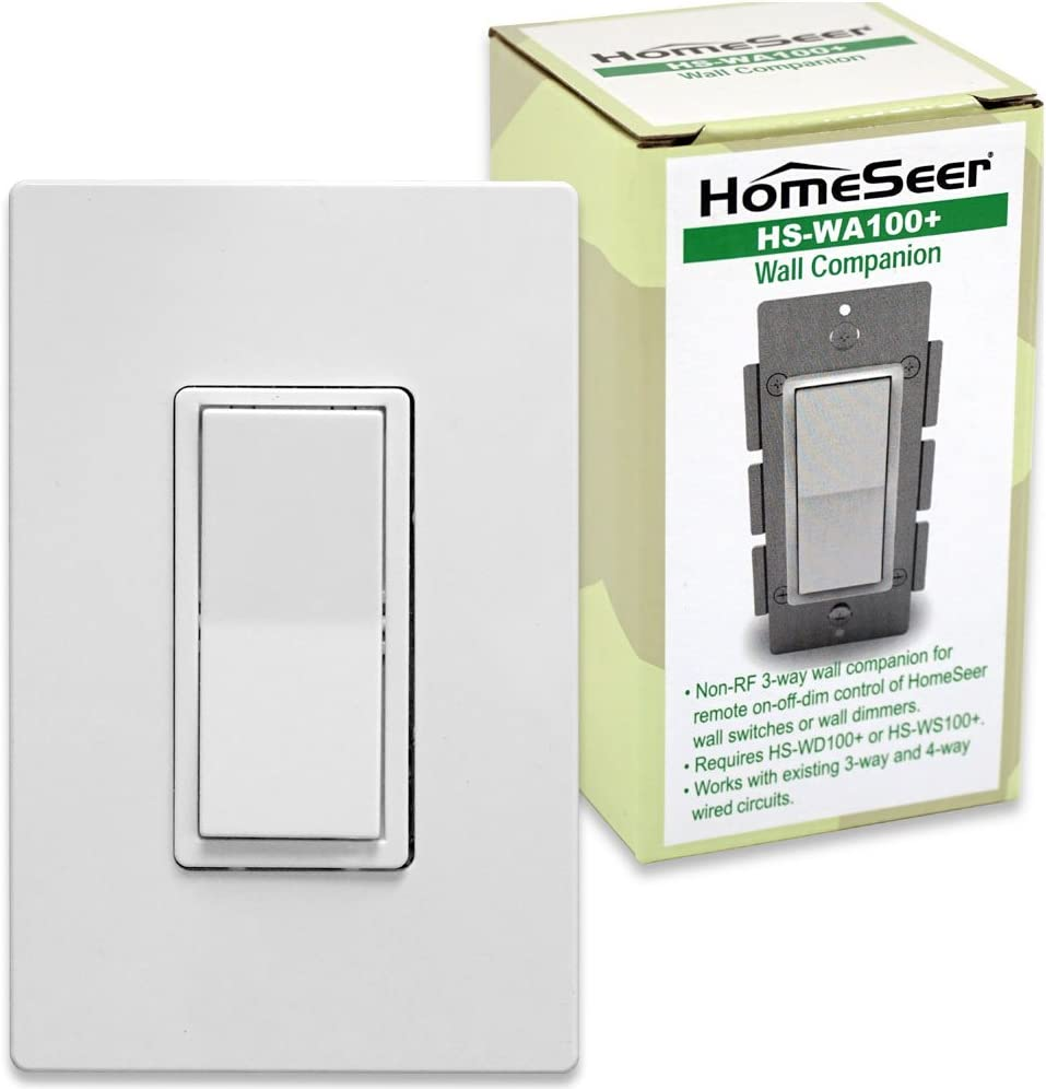 HomeSeer HS-WA100+ Wired 3-way Companion Switch for HomeSeer Dimmers & Switches
