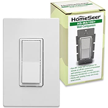 Homeseer Hs Wa100 Wired 3 Way Companion Switch For Use
