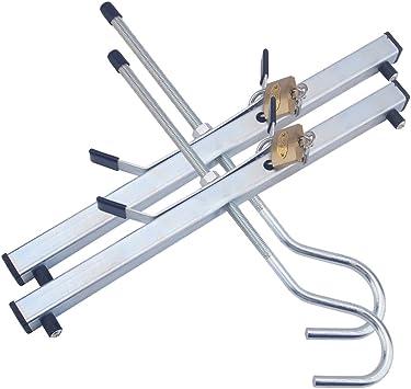Abrazaderas de escalera seguras con dos candados libres, universalmente utilizado para bloquear el techo del coche, furgoneta, mejorar la seguridad de la escalera de transporte: Amazon.es: Bricolaje y herramientas