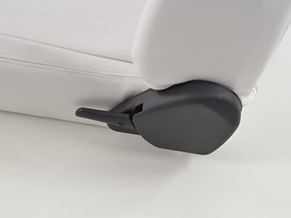 3d6a796acf4 FK sport seat set semi-bucket seat artificial leather white stitch black  FKRSE14047  Amazon.co.uk  Car   Motorbike