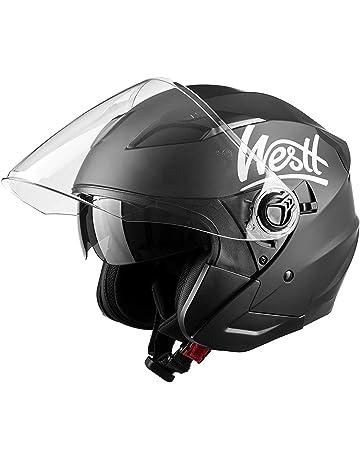 Exsential EX 730/VL Casco semijet blanco brillante para scooter y moto talla M