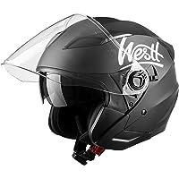 Westt Jet Casco de Moto Abierto Negro Mate