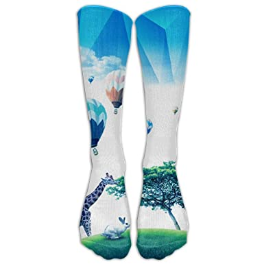Pole Vault Men Hip-hop 3D Print Sport BascketBall Thicken Long Socks Unisex 50cm 19.6 inch