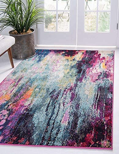 Unique Loom Chromatic Collection Abstract Modern Colorful Kids Multi Area Rug 9' 0 x 12' 0