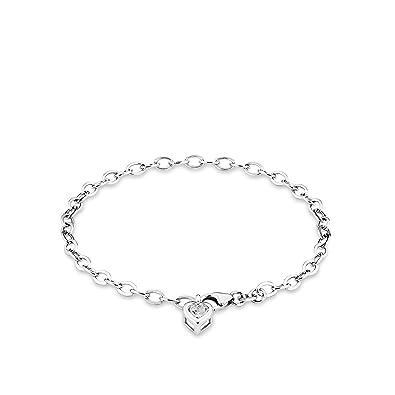 amor Damen-Armband 19cm mit Herz-Anhänger 925er Silber Zirkonia weiß   Amazon.de  Schmuck 25bbe521fd