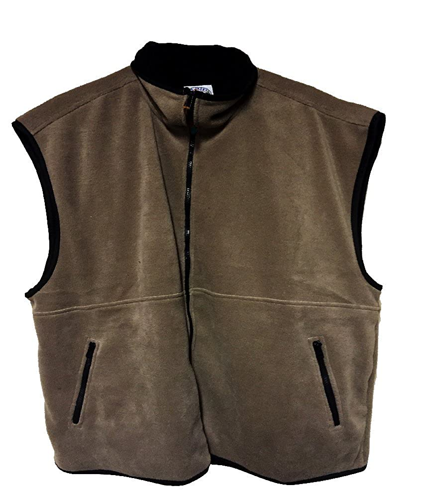 LD Sport Big and Tall Fleece Windblock Vests in Grey, Tan, and Burgundy