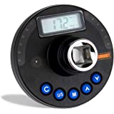 Summit Tools 1/2 inch Digital Angle Torque Adapter, 12.5-250.7 ft-lbs Torque Range, 1-360° Angle Range, Buzzer and…