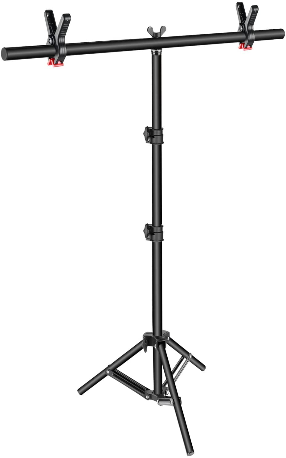 Amazon Com Neewer T Shape Background Backdrop Support Stand Kit 32 80 Inches 81 203 Centimeters Adjustable Tripod Stand And 35 4 Inches 90 Centimeters Crossbar With 2 Tight Clamps For Video Studio Photography Camera Photo