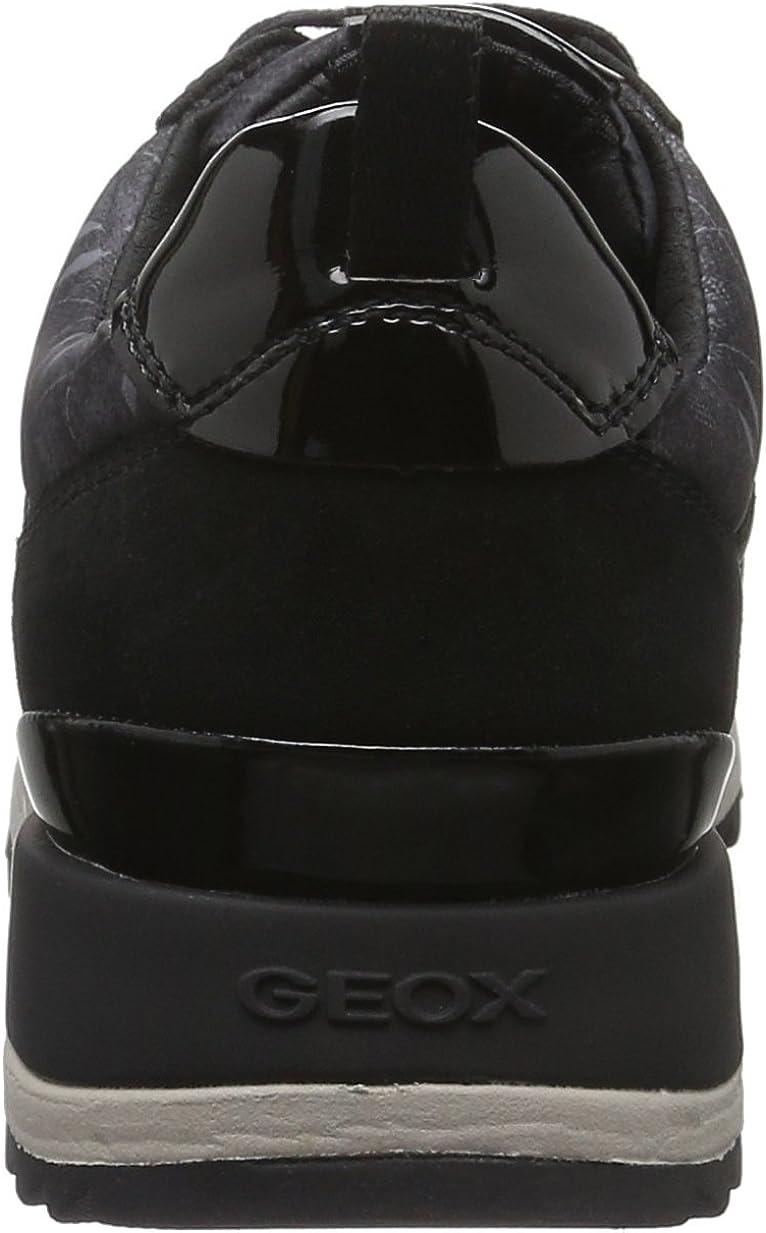 Geox Women's D Aneko B ABX a Low-Top Sneakers Schwarz (Blackc9999)
