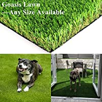 Realistic Artificial Grass Turf -Indoor Outdoor Garden Lawn Landscape Synthetic Grass Mat - Thick Fake Grass Rug 5FT x 8FT(40 Square FT)