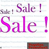"""Aufkleber Set 3 x """"Sale"""" Schaufenster Ausverkauf Schlussverkauf Reduziert WSV SSVca. 20,30,40 cm Aufkleber Sticker Schaufensterwerbung Werbung Deko von Pegatina Promotion ®"""
