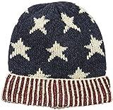 MUK LUKS Women's Love America Cuff Cap-Stars, Navy, One Size