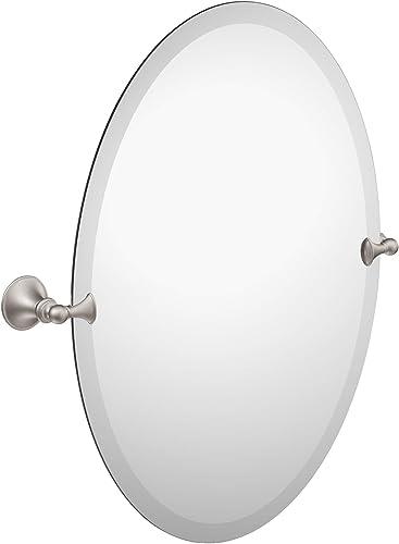 Moen DN2692BN Glenshire 26-Inch x 22-Inch Frameless Pivoting Bathroom Tilting Mirror, Brushed Nickel