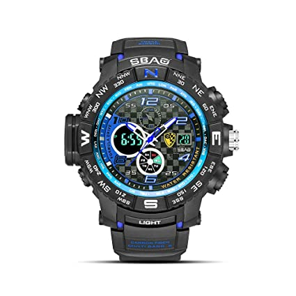 EJOLG Reloj De Electronico Inteligente Hombres Moda, con Calendario Luminoso,Prueba De Agua,