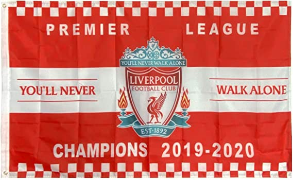 Youll Never Walk Alone Flag 3x5 ft Flag for Indoor and Outdoor ILNYXMM Liverpool FC Premier League Champions Flags